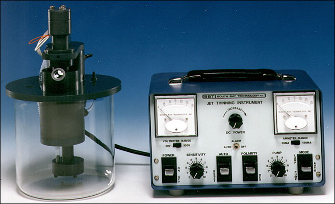 MODEL 550 - Jet Thinning Instrument for TEM Samples