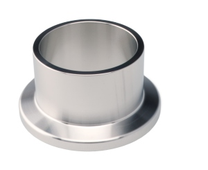 Flange with Tube, Short - Stainless Steel 316L