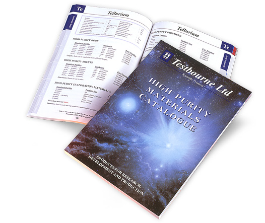 Testbourne LTD Scientific Products HIGH PURITY MATERIALS CATALOGUE